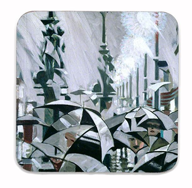 Rain on Princes Street Stanley Cursiter Coaster
