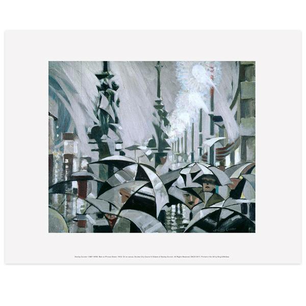 Rain on Princes Street Stanley Cursiter Art Print