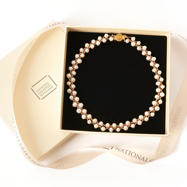 The Real Pearl Necklace Pearl and Gold Plated Bar