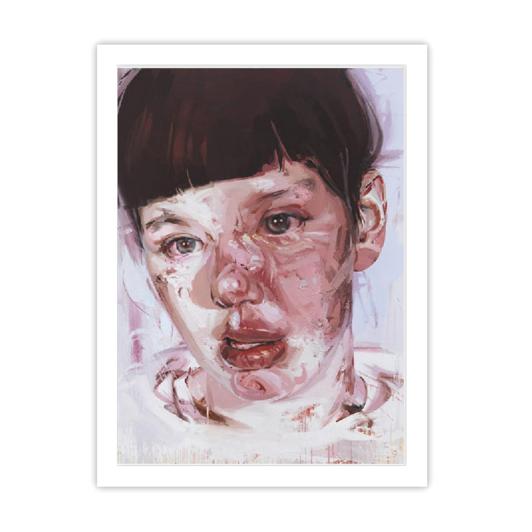 Red Stare Head IV by Jenny Saville ready to hang framed print