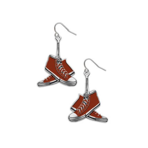 Red sneakers drop earrings