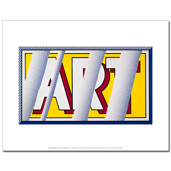 Reflections: Art by Roy Lichtenstein art print