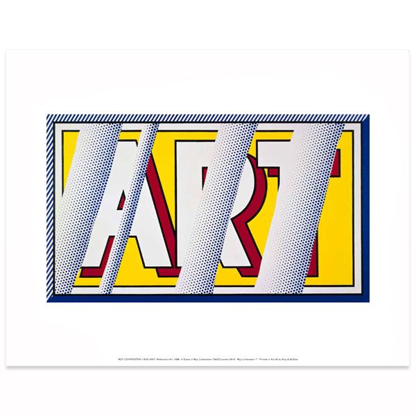 Reflections: Art Roy Lichtenstein Poster Print | National Galleries ...