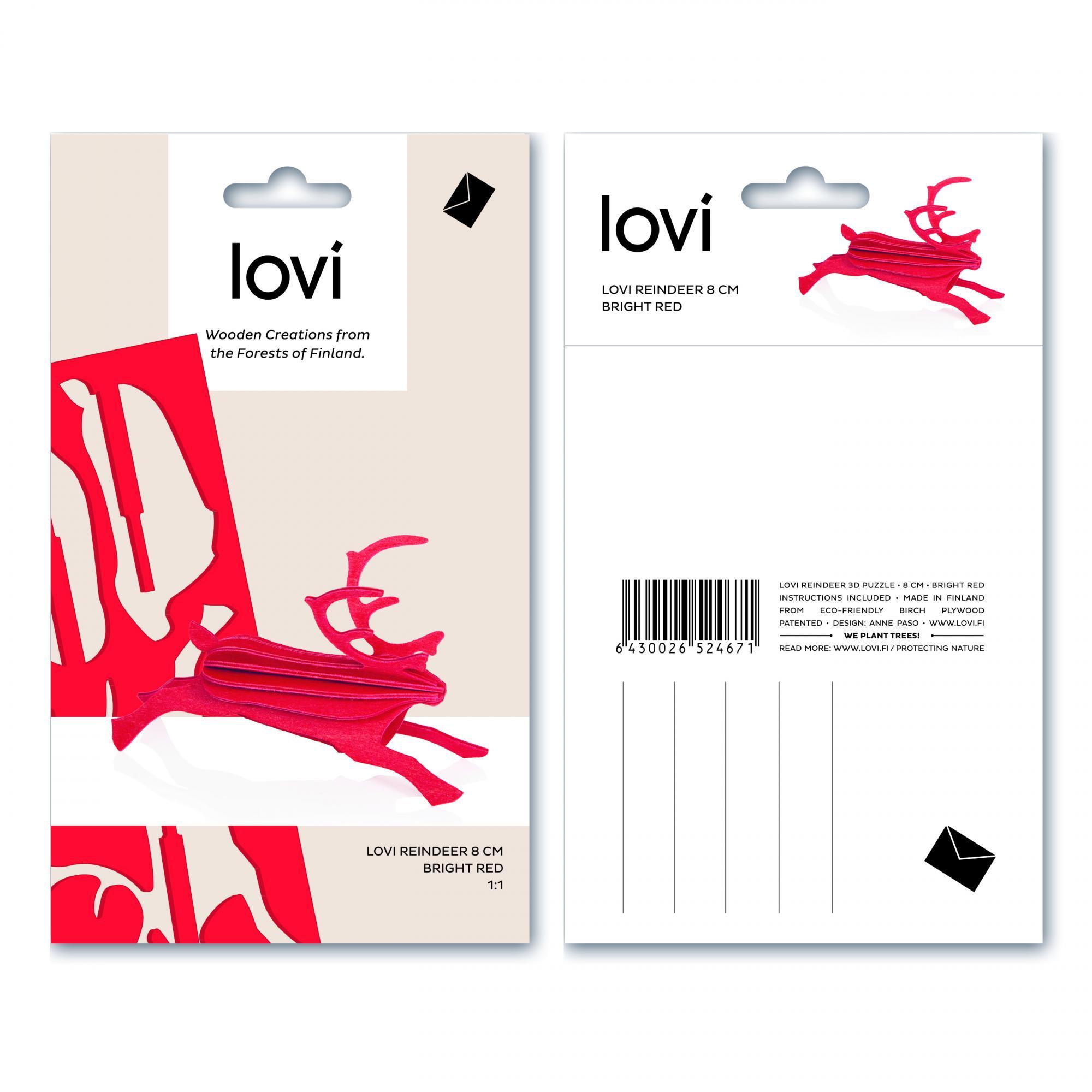 Lovi Bright Red Reindeer Construction Kit