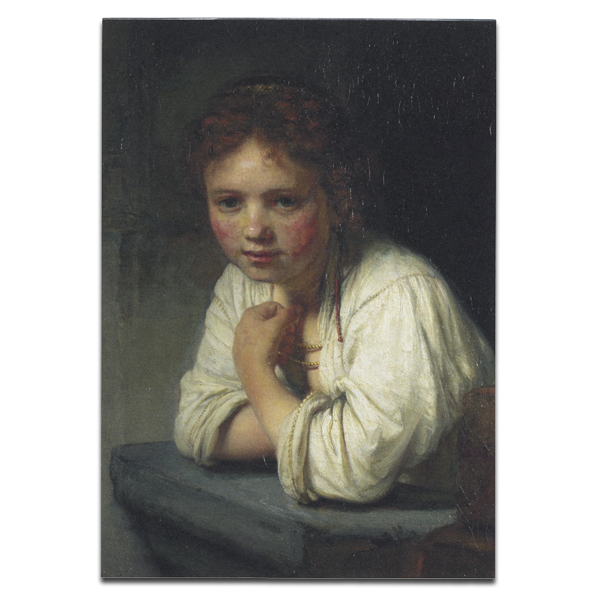 Girl at a Window by Rembrandt van Rijn A4 sketchbook