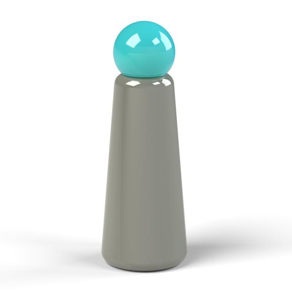 Reusable dark grey and teal skittle design 500ml (17 oz) water bottle