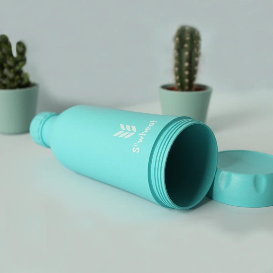 Reusable ice blue 550ml (19oz) water bottle