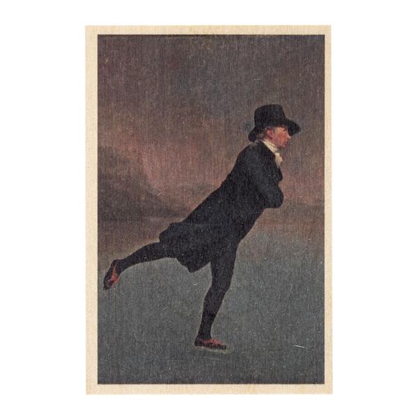 Reverend Robert Walker by Sir Henry Raeburn wooden postcard