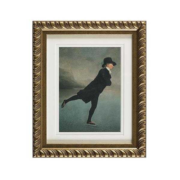 Reverend Walker ready to hang gold ornate framed print
