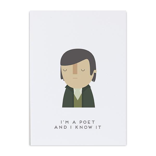 Robert Burns poet, know it greeting card