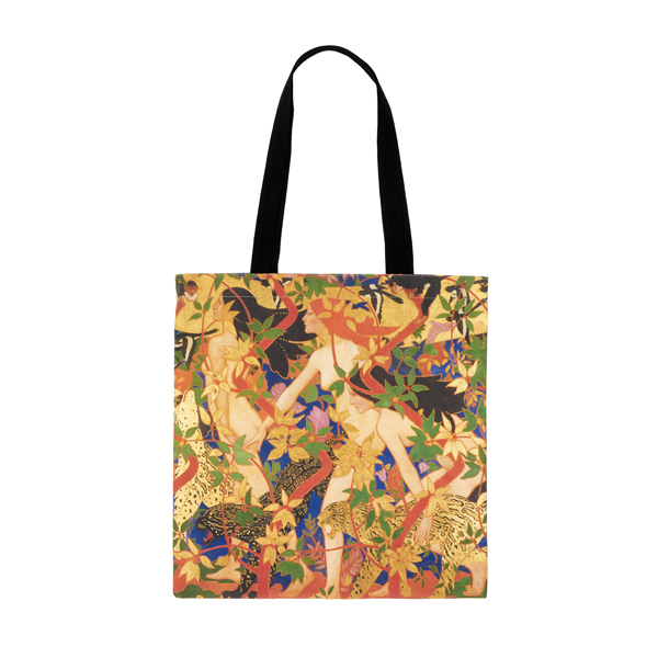 The Hunt by Robert Burns reusable canvas tote bag