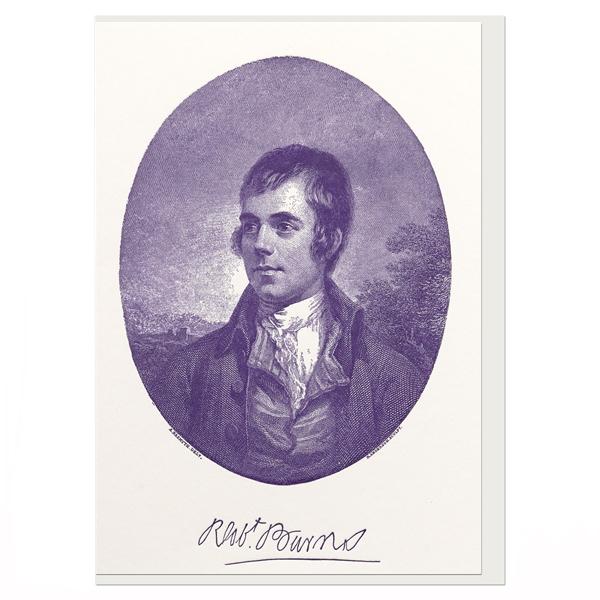 Robert Burns by Alexander Nasymth greeting card