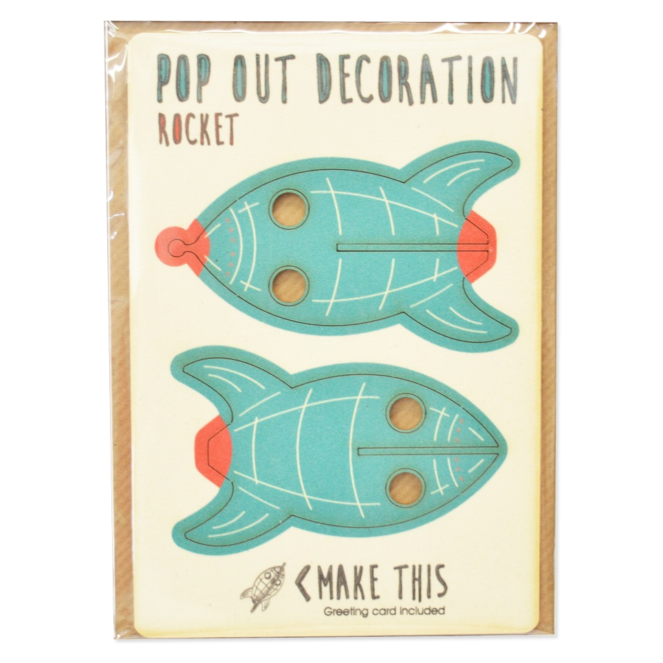 Rocket pop out greeting card