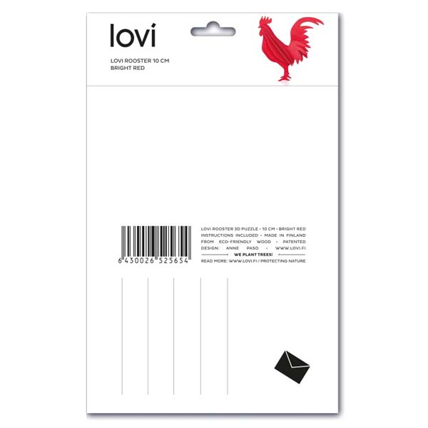 Lovi Red Rooster Construction Kit