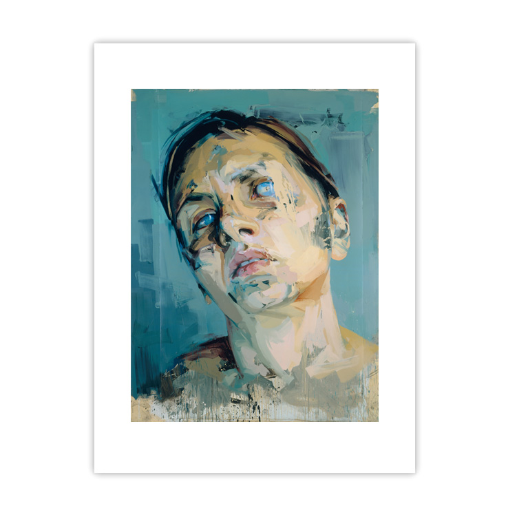 Rosetta II by Jenny Saville large mounted postcard