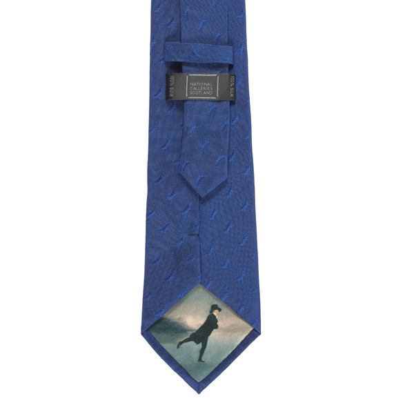 National Galleries of Scotland Reverend Walker Blue Silk Tie