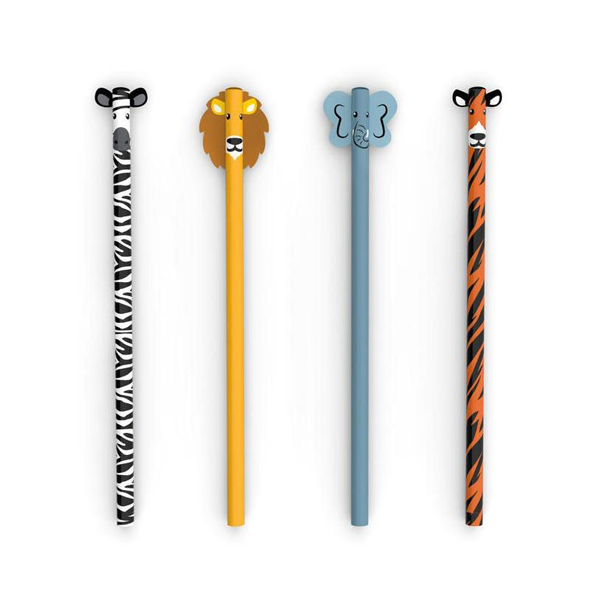 Safari Animal pencil set (4 graphite pencils)