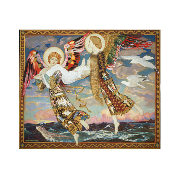 Saint Bride by John Duncan art print
