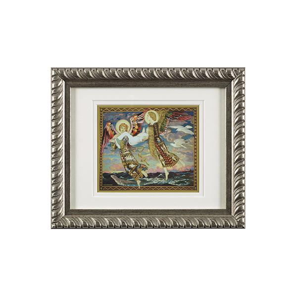 Saint Bride ready to hang silver ornate framed print