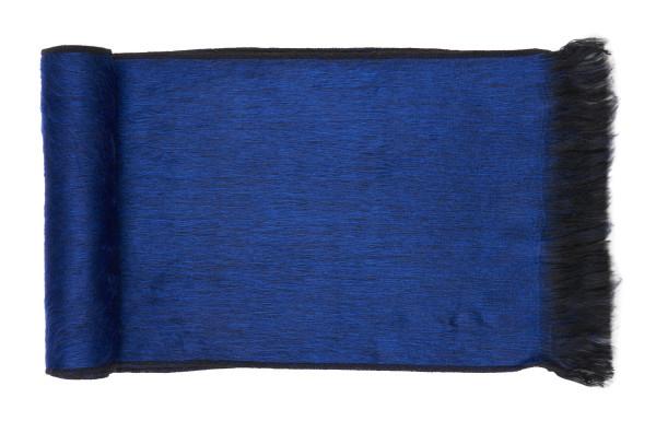 Sapphire blue alpaca scarf