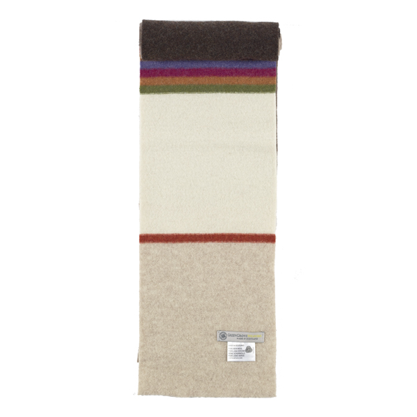 Green Grove Delauney Natural Wool Scarf