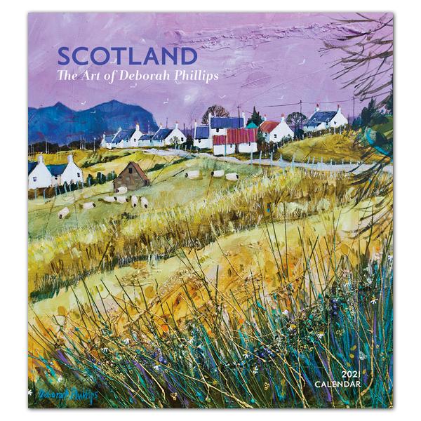 Scotland: The art of Deborah Phillips 2021 wall calendar