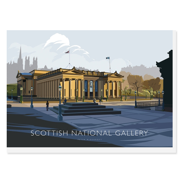 Scottish National Gallery by Peter McDermott greeting card