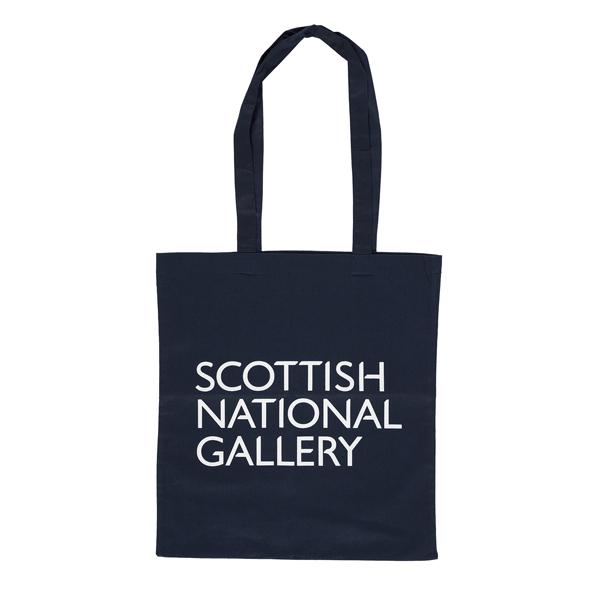 National Galleries of Scotland navy blue shopper bag