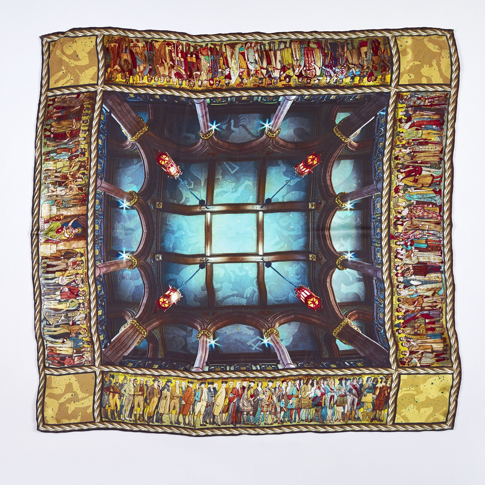 Scottish National Portrait Gallery Ceiling silk scarf