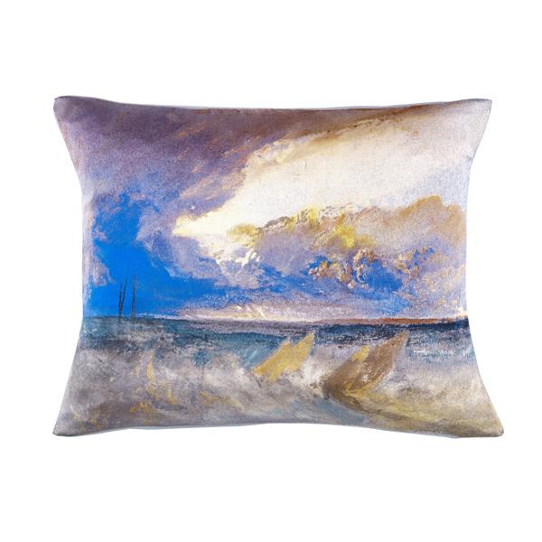 Sea View by Joseph Mallord William Turner silk cushion