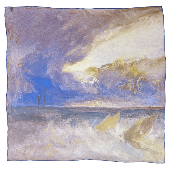 Sea View by Joseph Mallord William Turner silk scarf