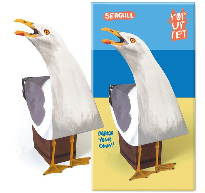 Seagull pop up pet