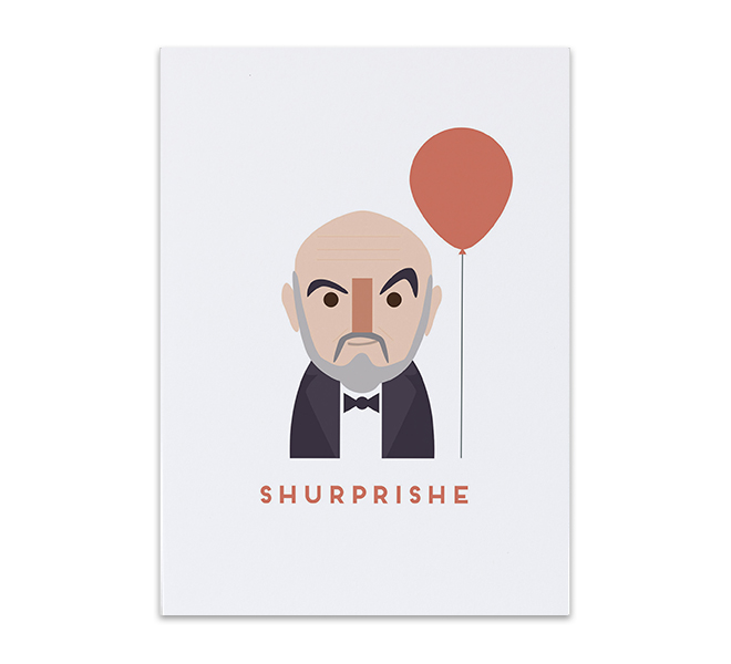 Sean Connery greeting card