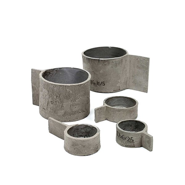 Grey-brown cement low cup