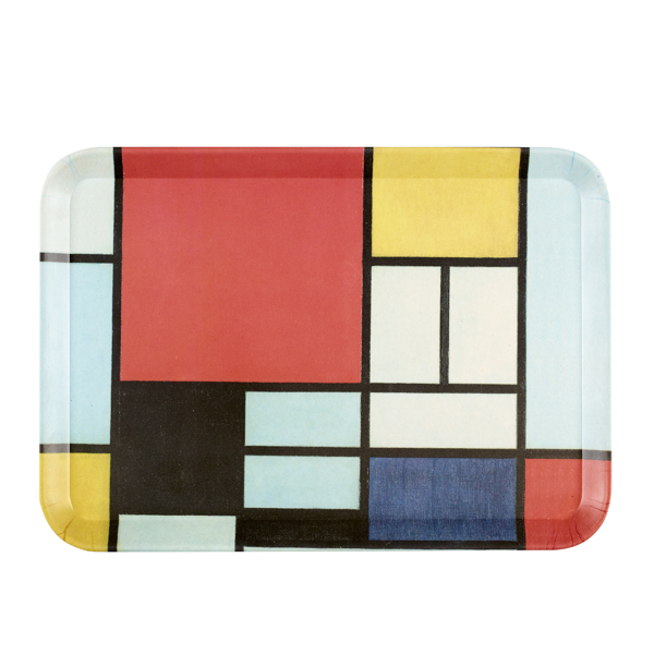 Composition Piet Mondrian Bamboo Tray