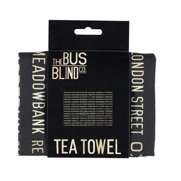 Edinburgh A-Z bus blind tea towel