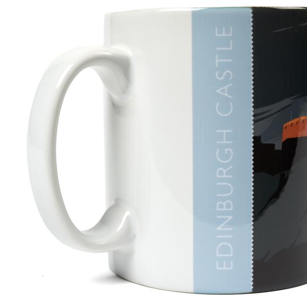 Edinburgh Castle graphic ceramic mug