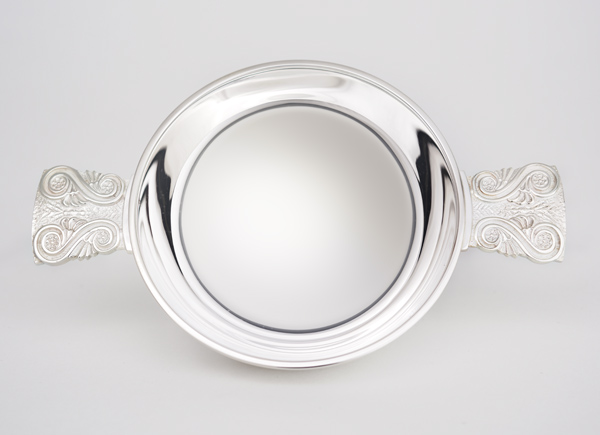 Exclusive handmade solid sterling silver small Quaich