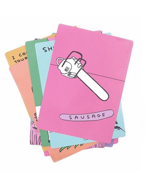 Sh*ts & sausages snap card game by David Shrigley