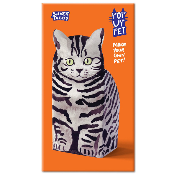 Rosie Flo Silver Tabby Pop Up Pet