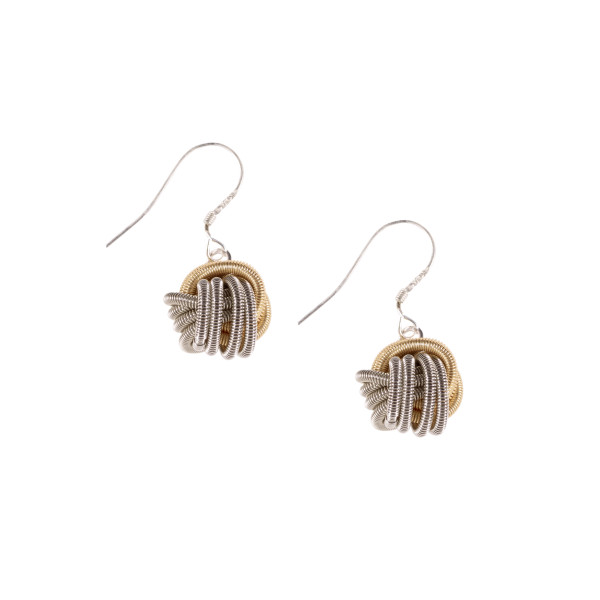 Bologna silver and gold coloured earrings