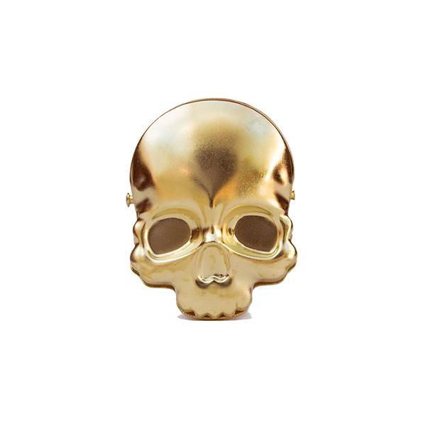 Skull brass bulldog clip