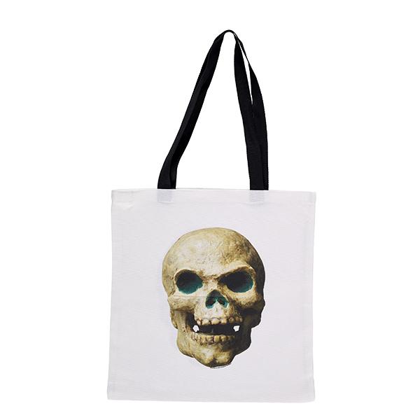 Skull model from Jason and the Argonauts white tote bag