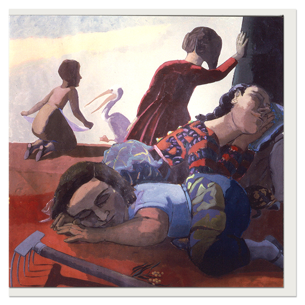 Sleeping by Paula Rego greeting card