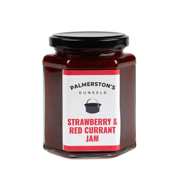 Small batch strawberry and red current handmade jam