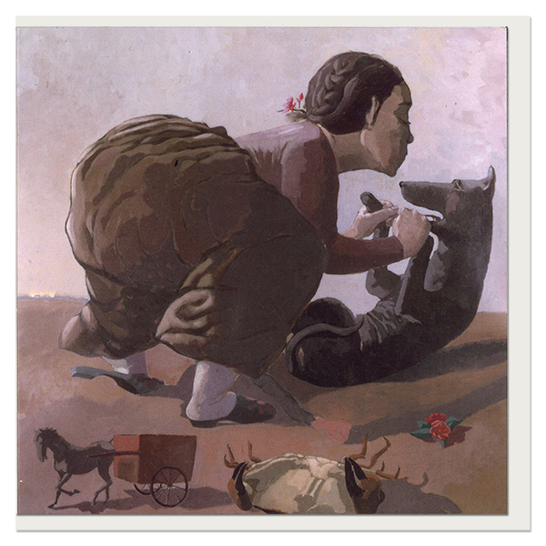 Snare by Paula Rego greeting card