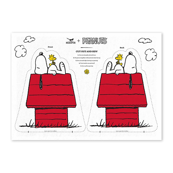 Snoopy house cut and sew cotton tea towel