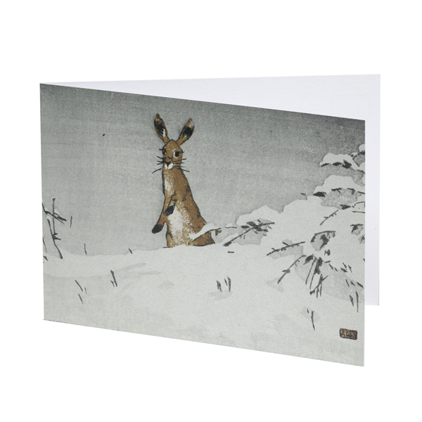Snow and Hare by Allen William Seaby Christmas card pack (10 cards)