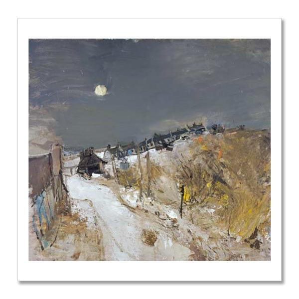 Catterline in Winter by Joan Eardley square postcard