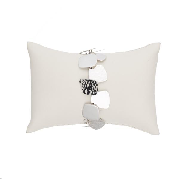 Square shapes silver bracelet